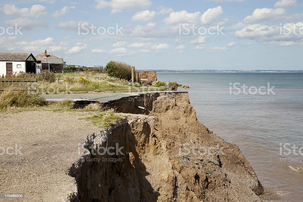 Erosion on the East Yorkshire Coast stock photo