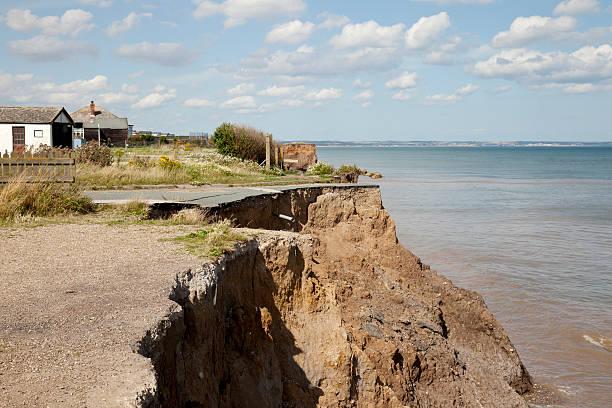 Erosion on the East Yorkshire Coast stock photo