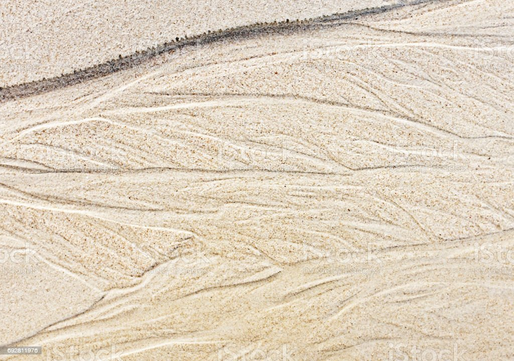 Erosion Patterns In Beach Sand Make Textured Natural Background Royalty Free Stock Photo