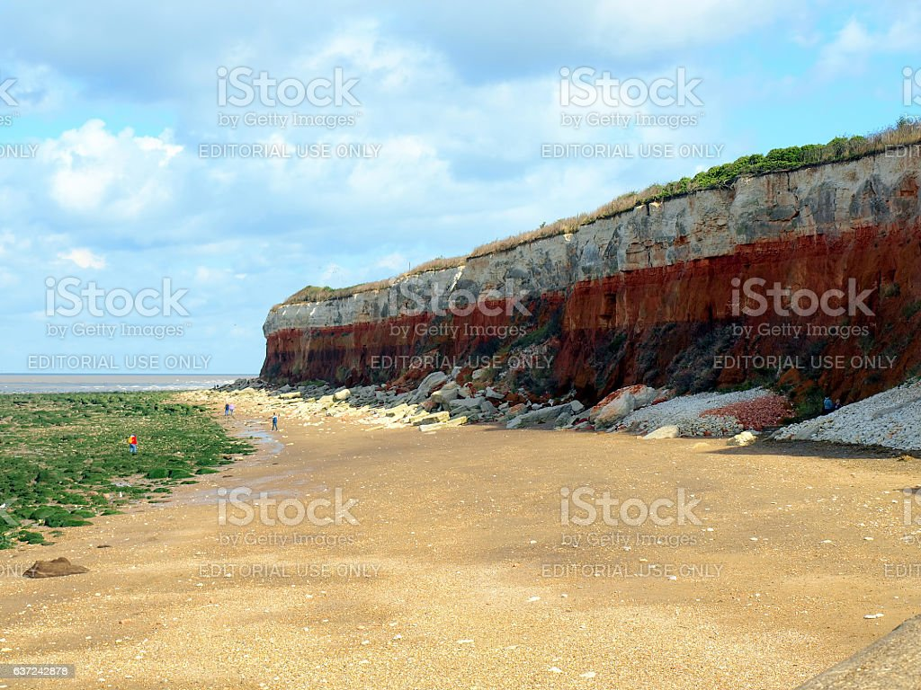 Erosive cliffs, Hunstanton. stock photo