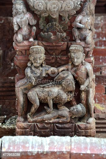 Erotic Carvings On A Hindu Temple In Kathmandu Nepal Stock Photo  More Pictures Of -1257