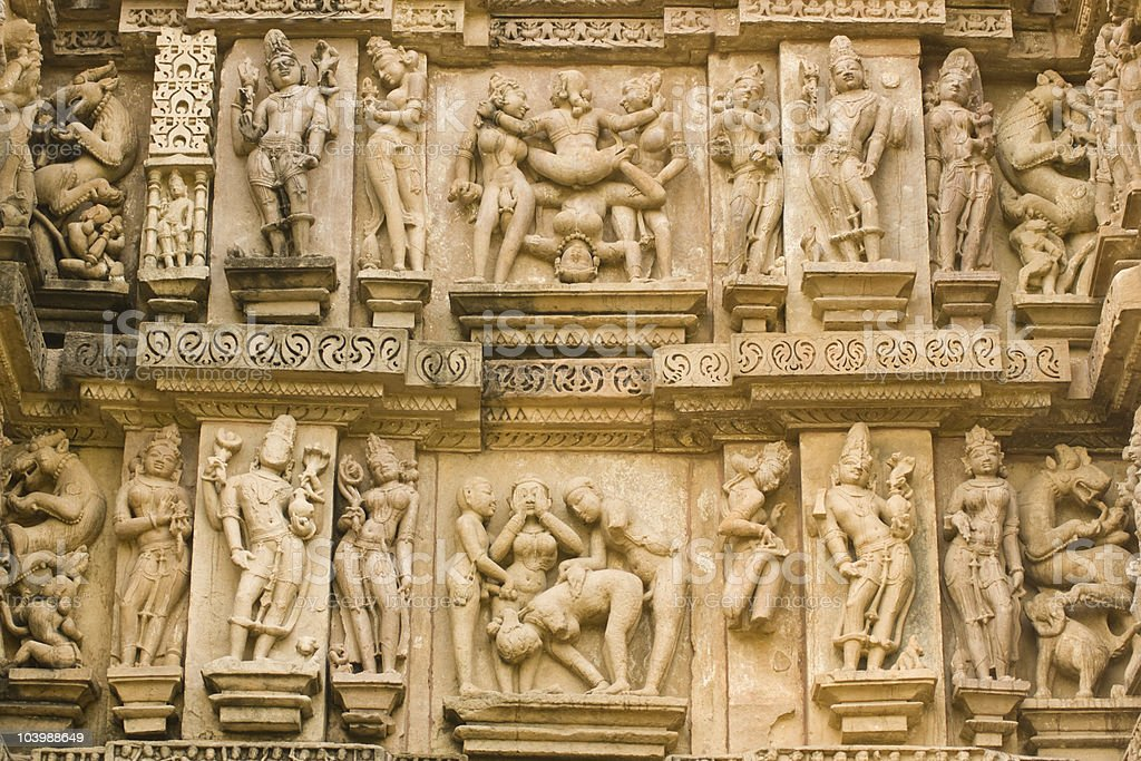 Erotic Indian Sculptures royalty-free stock photo