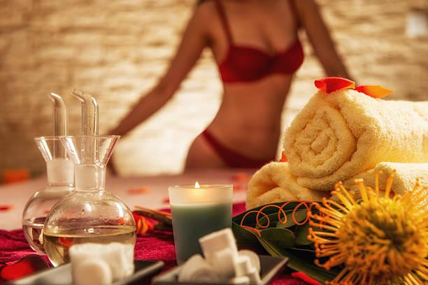 Erotic masage stock photo