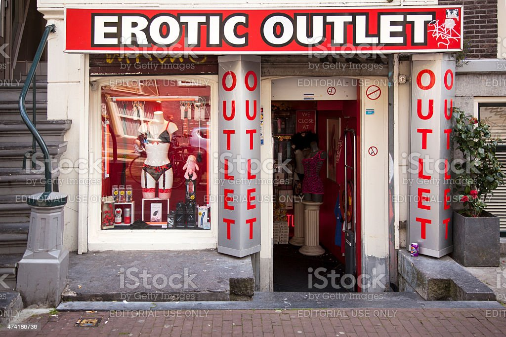 Erotic outlet store in the centre of amsterdam stock photo more
