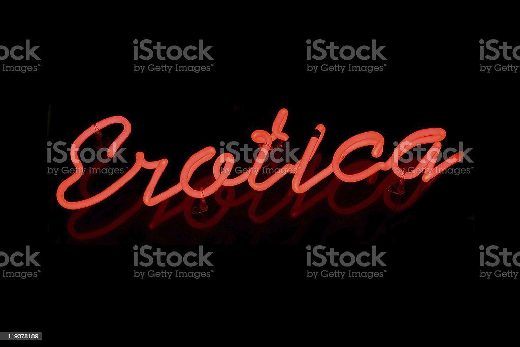 Erotica neon sign royalty-free stock photo