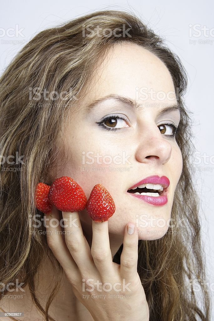 Erotical Strawberries No.3 royalty-free stock photo