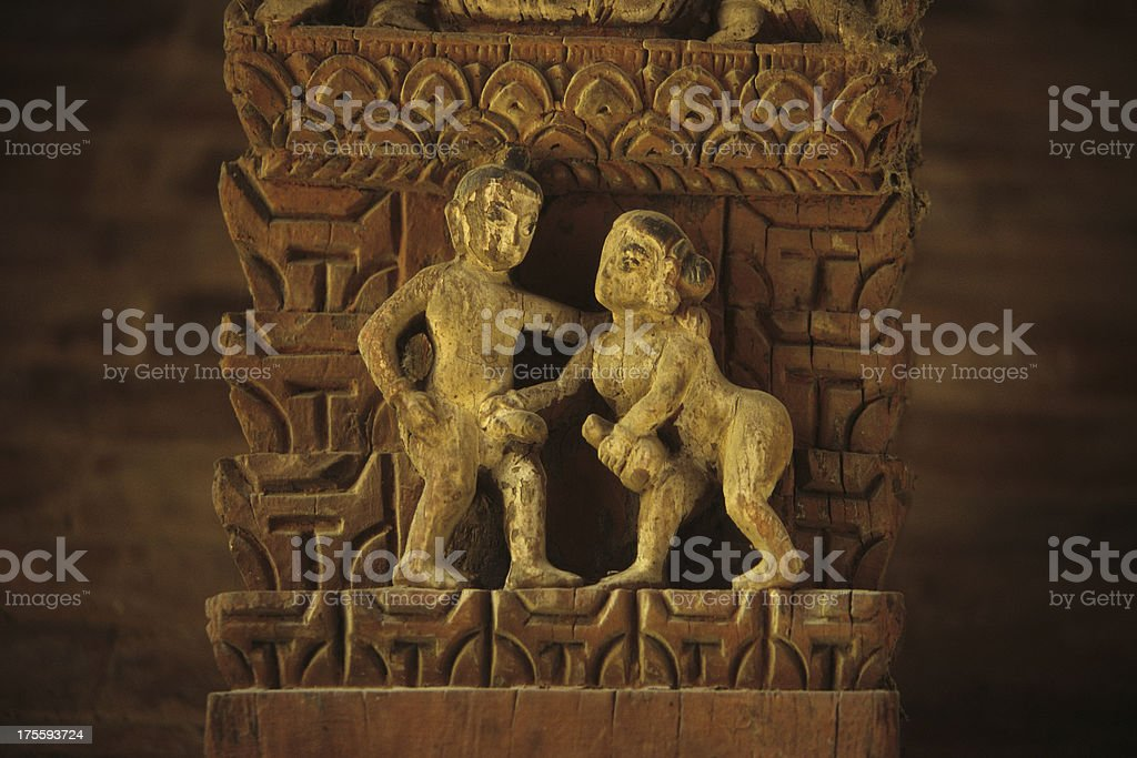 erotical temple carving royalty-free stock photo