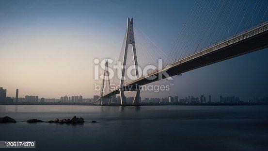 A beautiful bridge in Wuhan