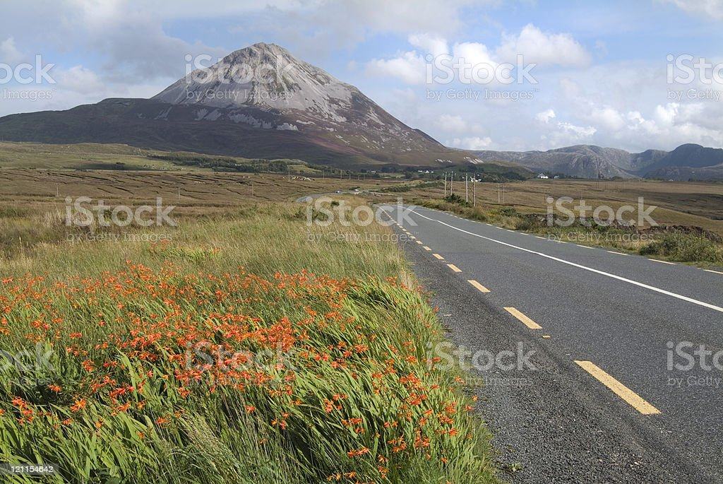 Errigal Mountain stock photo