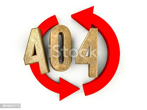 istock Error 404. Page not found. 3D rendering 694894270