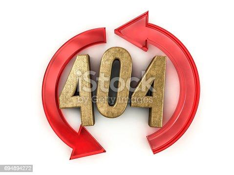 istock Error 404. Page not found. 3D rendering 694894272