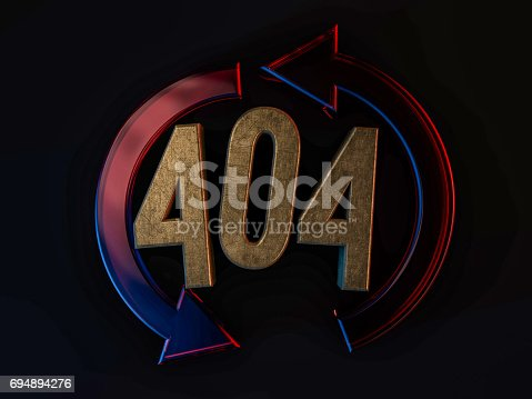 istock Error 404. Page not found. 3D rendering 694894276