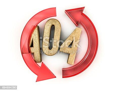 istock Error 404. Page not found. 3D rendering 694894280