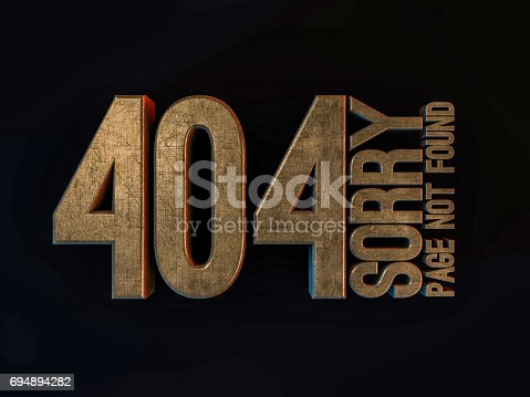 istock Error 404. Page not found. 3D rendering 694894282