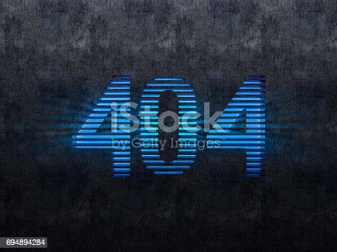 istock Error 404. Page not found. 3D rendering 694894284