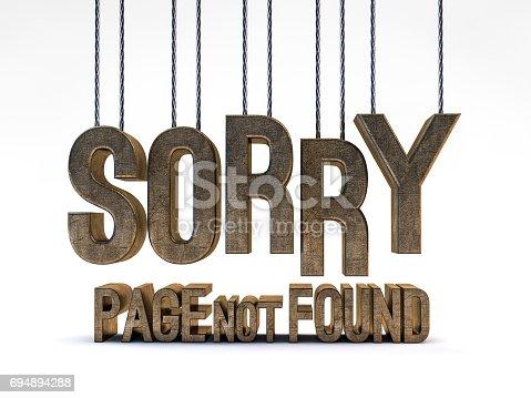 istock Error 404. Page not found. 3D rendering 694894288