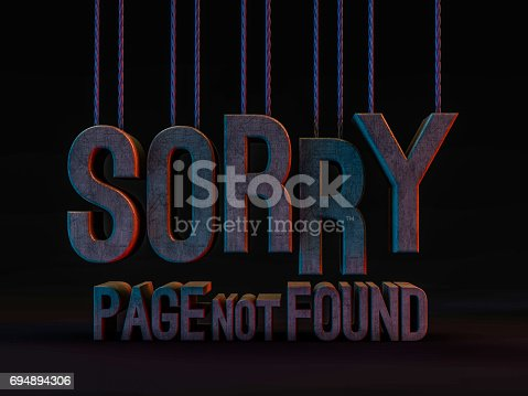 istock Error 404. Page not found. 3D rendering 694894306