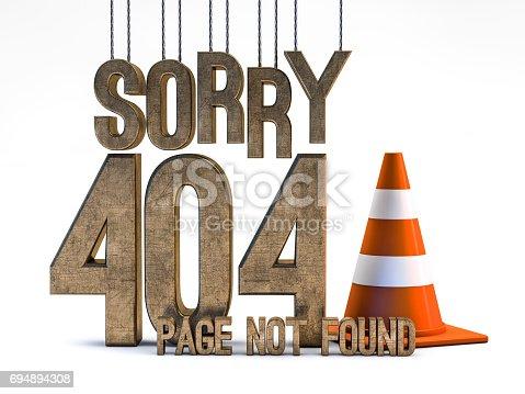 istock Error 404. Page not found. 3D rendering 694894308