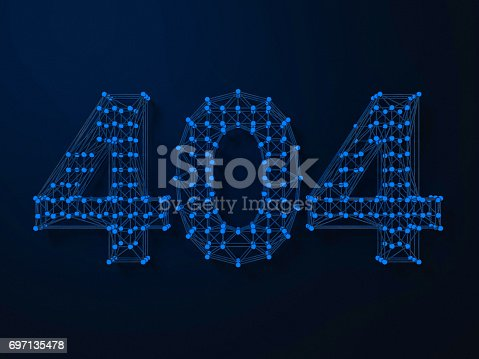 istock Error 404. Page not found. 3D rendering 697135478