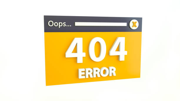 Error 404 page not found concept. Error opening the web page. Website under construction stock photo