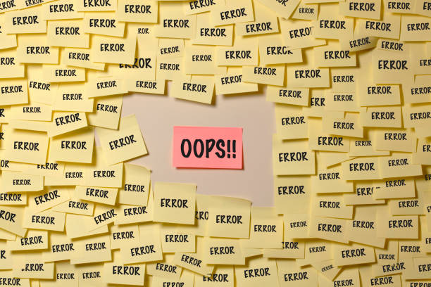 Error and Oops stock photo