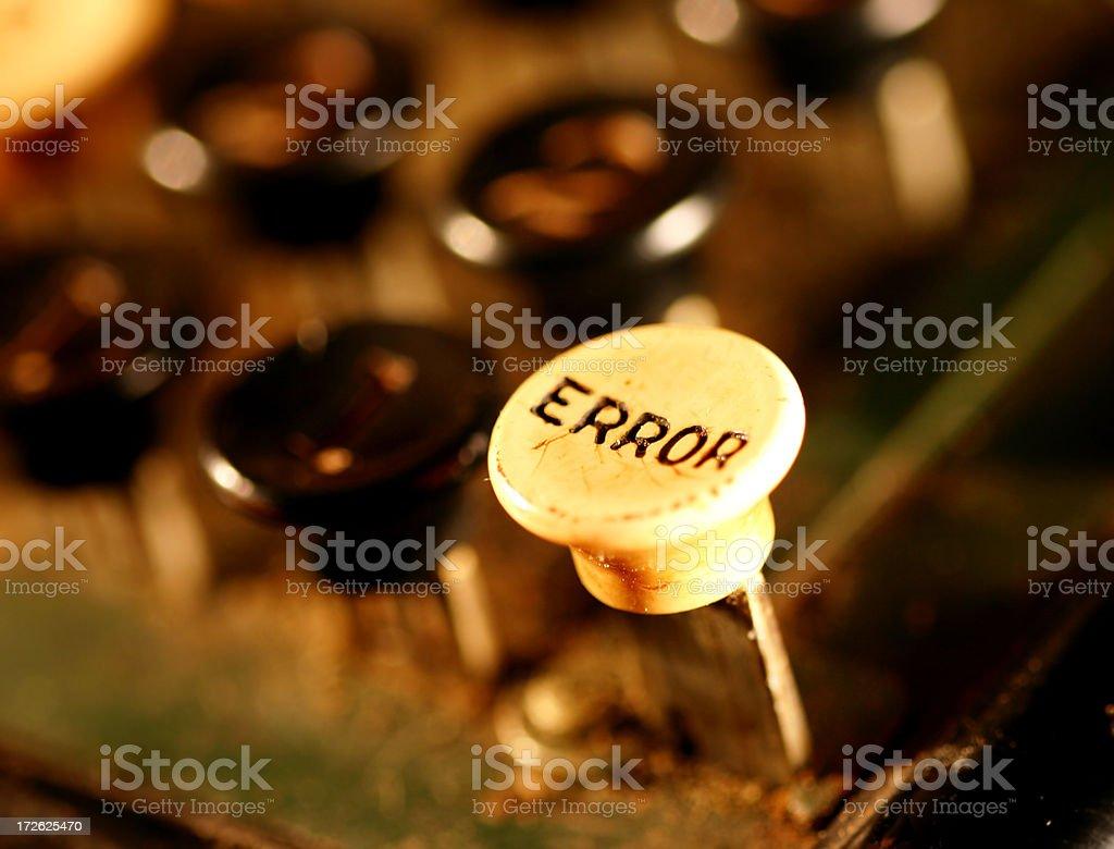 Error Button - Macro royalty-free stock photo