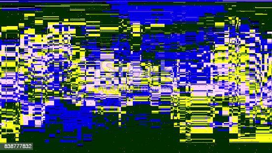 istock Error concept of no signal TV 838777832