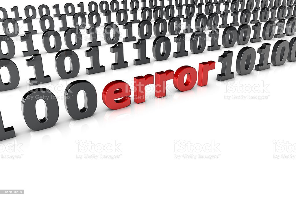 Error in a binary code royalty-free stock photo