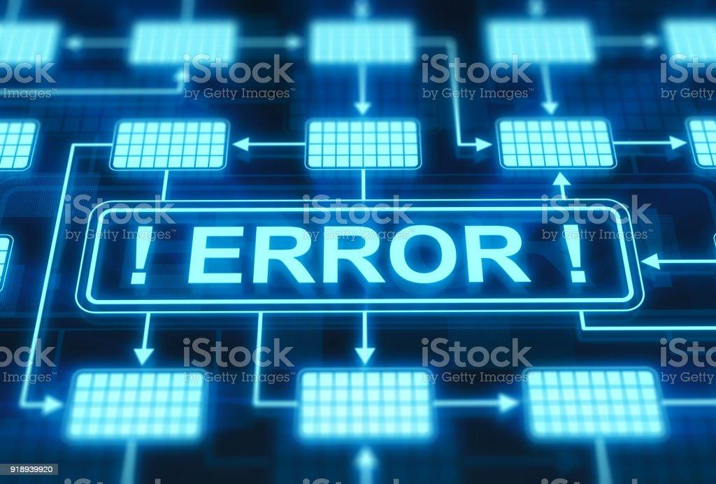 Error message on digital display stock photo