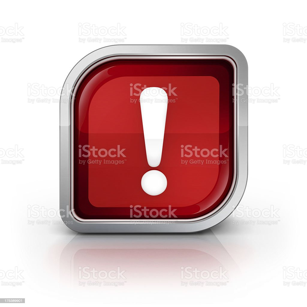 error or attention required icon stock photo