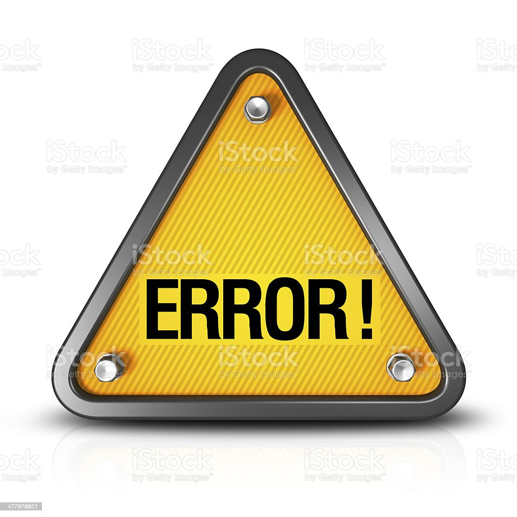 Error royalty-free stock photo