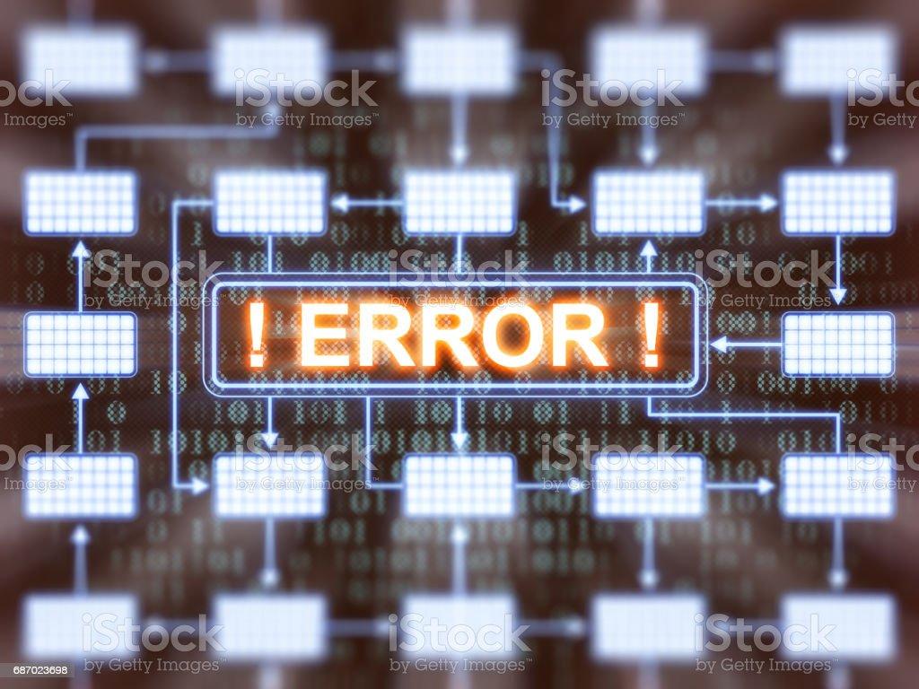 Fehler aufgetreten Lizenzfreies stock-foto