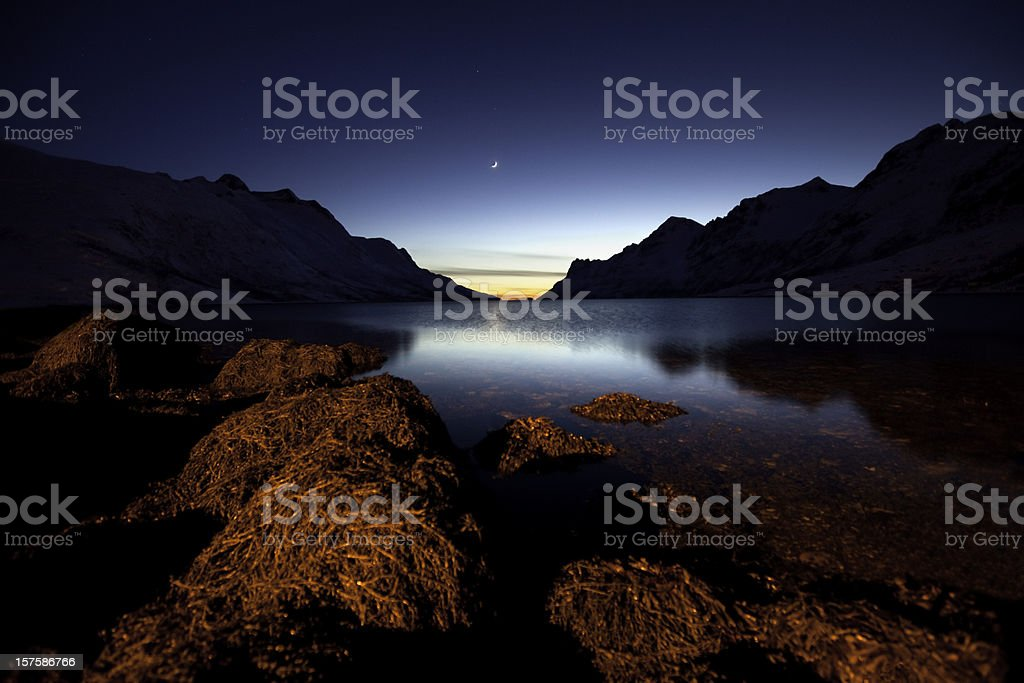 Ersfjord, Norway royalty-free stock photo