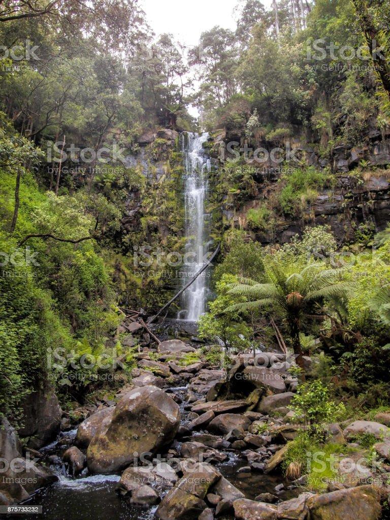 Erskine Falls in Australia stock photo