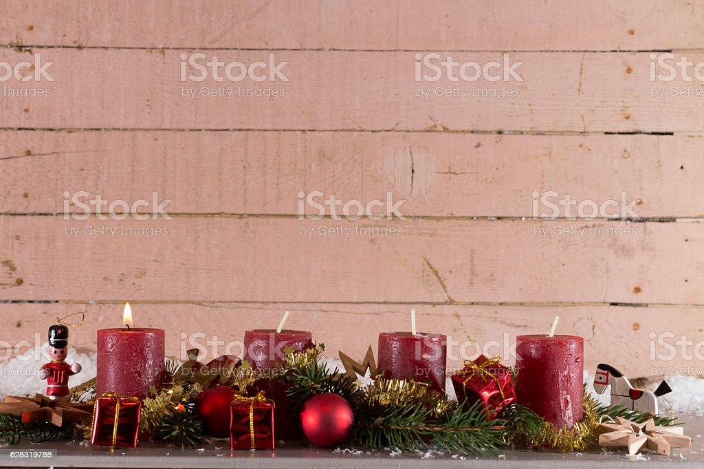 Erster Advent stock photo