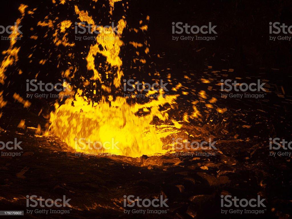 Erta Ale eruption royalty-free stock photo