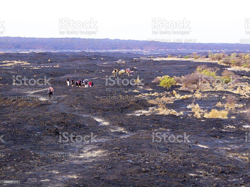 Erta Ale land royalty-free stock photo