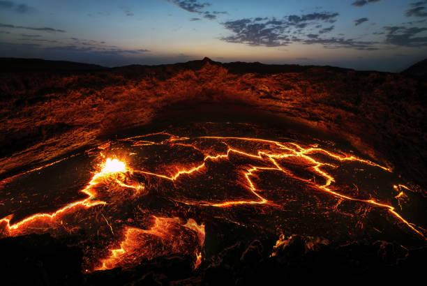 etiópia de vulcão erta ale - ale - fotografias e filmes do acervo