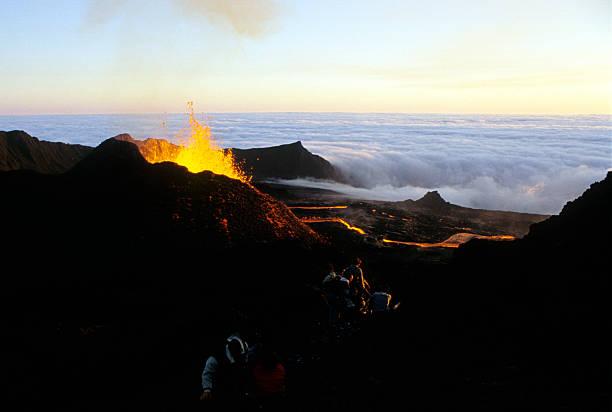 eruption 6 stock photo