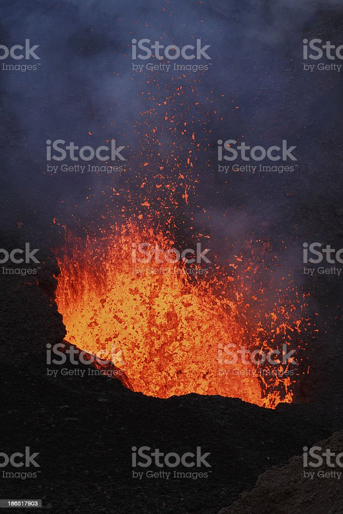 Eruption volcano. Kamchatka royalty-free stock photo