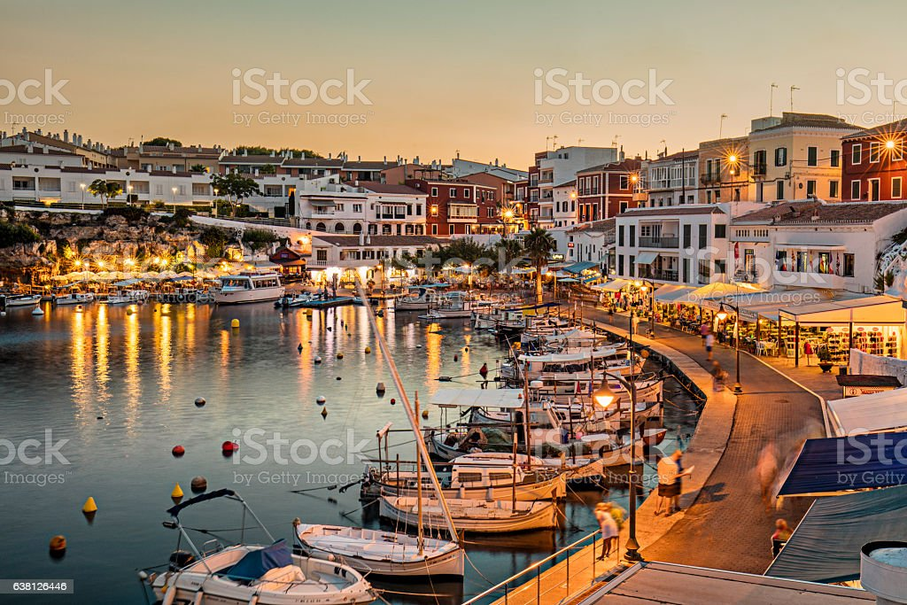Es Castells town in Menorca stock photo
