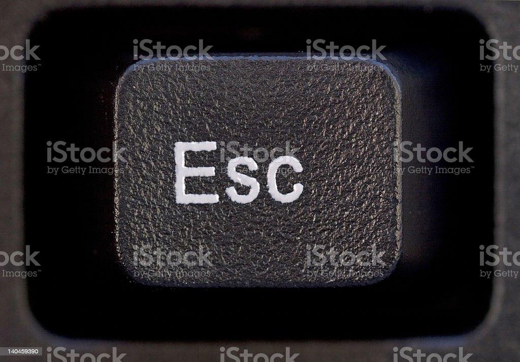 Esc Button stock photo