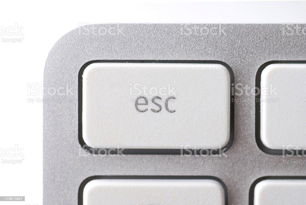 Esc key royalty-free stock photo