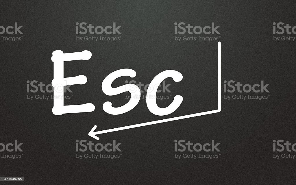 esc symbol stock photo