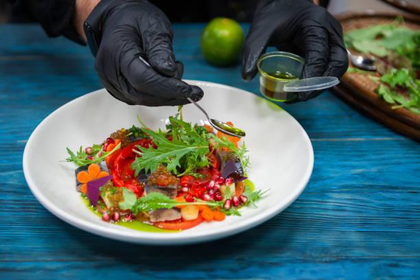 Escabeche Fischgericht mit Kaviar – Foto