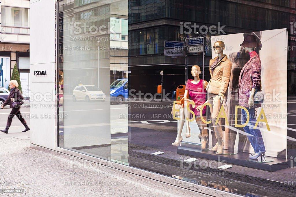 Escada Fashion Store Shopping In Berlin Stock Photo & More