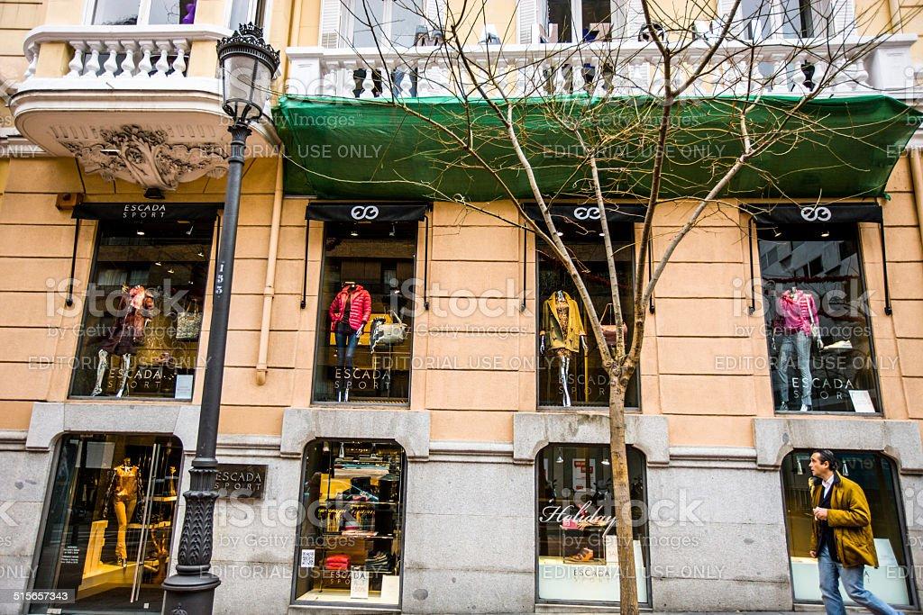 Escada Sport Store in Madrid, Spain stock photo