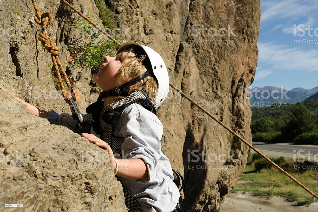 Escala en Roca stock photo