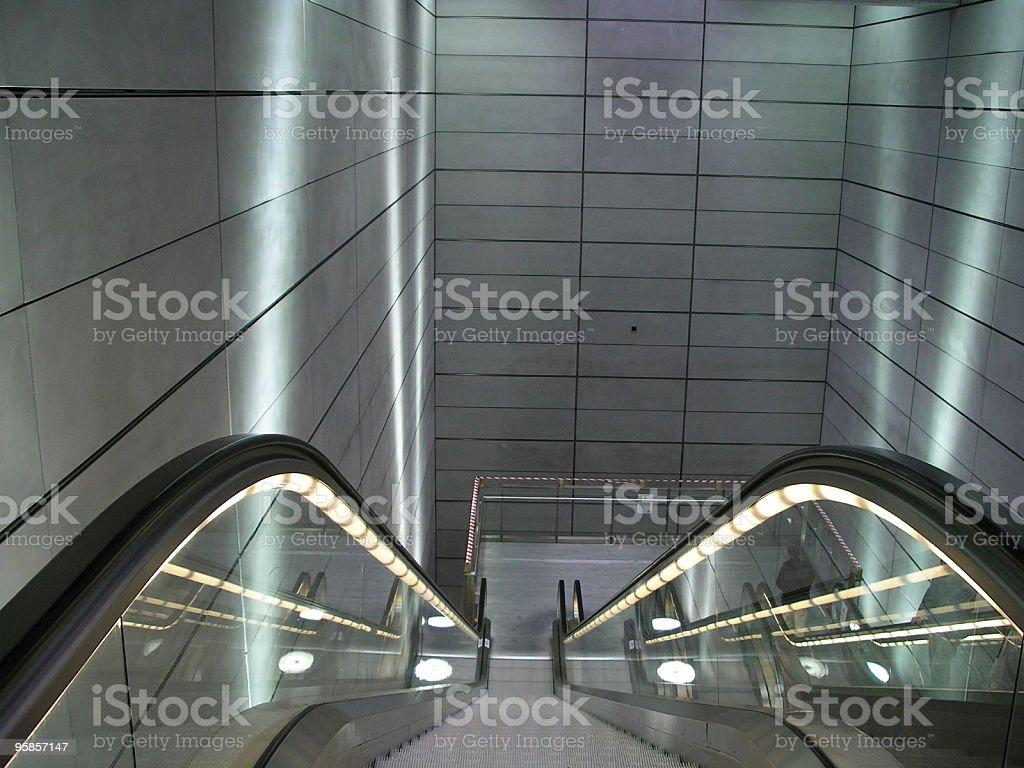 Escalator 2 royalty-free stock photo
