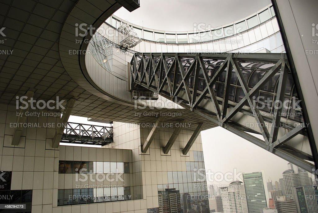 Escalator at Umeda Sky Building royalty-free stock photo